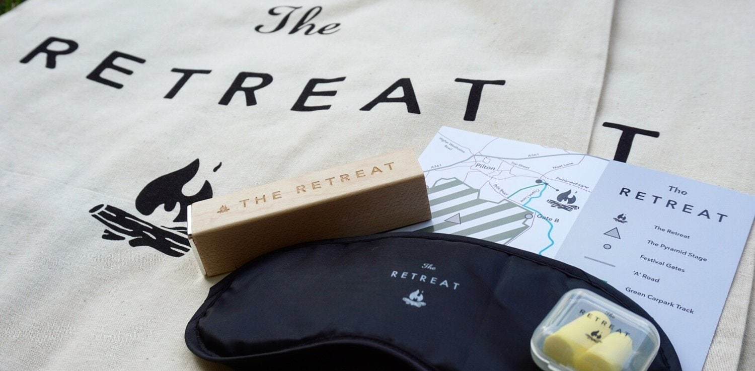 Your starter kit when you arrive at The Retreat with map and complimentary eye mask