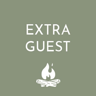 Extra Guests can stay at the Retreat for £300 each