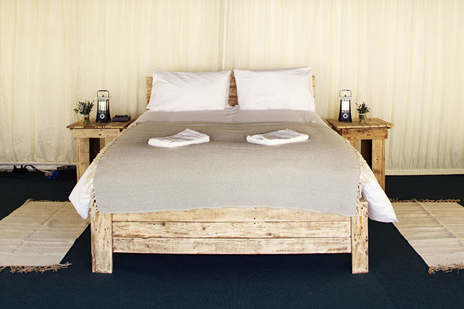 Safari Ivory luxury tent for 2 guests photo of the double bed