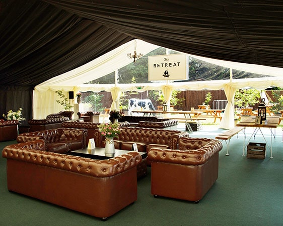 Photo of The Retreat, Glastonbury luxury bar area and sofas