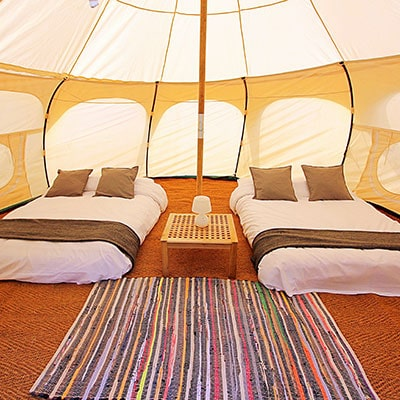 Lotus Belle Tent - luxury glamping accommodation for Glastonbury Festival