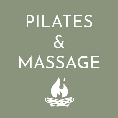 Pilates & massage available at The Retreat, Glastonbury Glamping Site