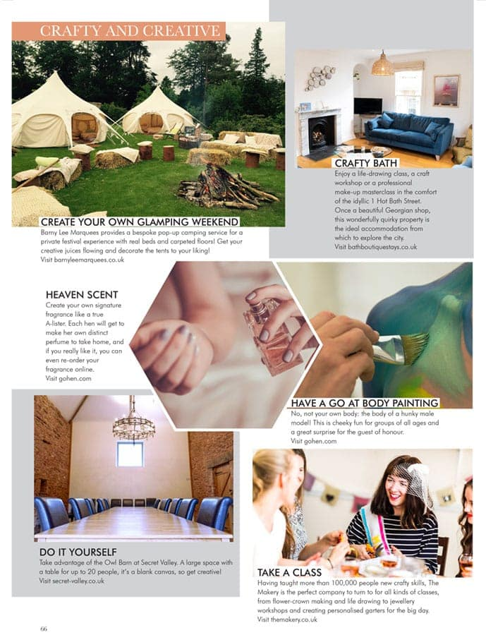 Magazine feature on The Badminton Retreat in Your Bristol and Somerset Wedding