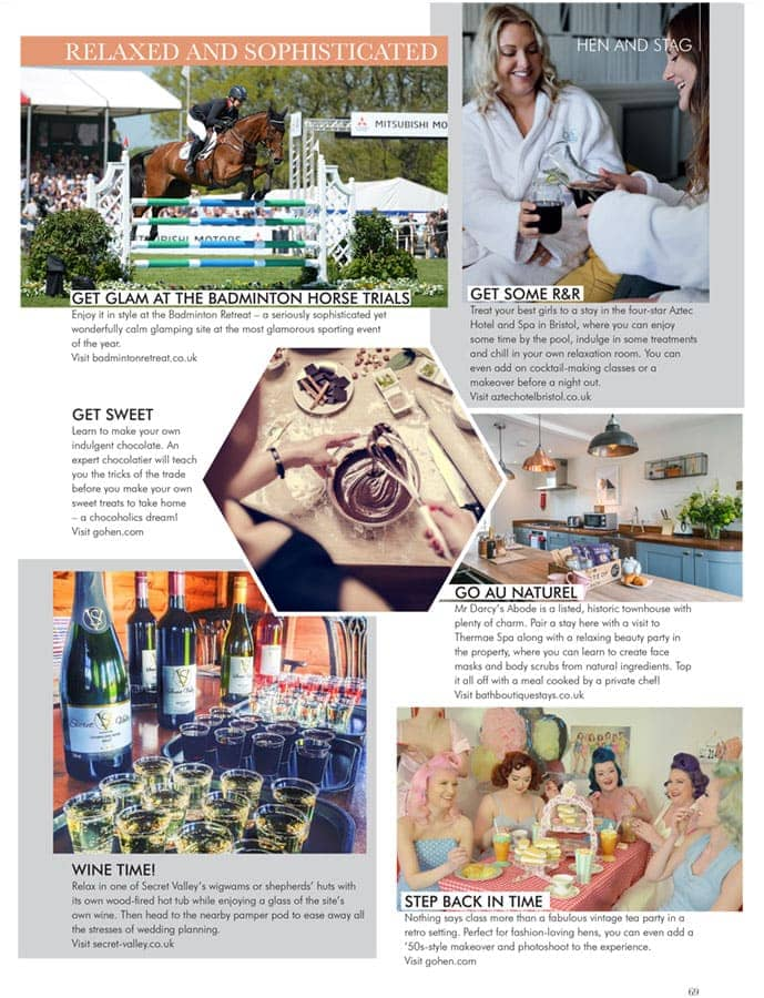 Badminton Retreat is featured in the Feb/ March issue of Your Bristol and Somerset Wedding magazine