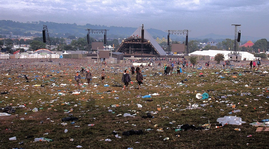 Keep Glastonbury Clean - single use plastic bottles banned at 2019 Festival - Glamping at Glastonbury 2019