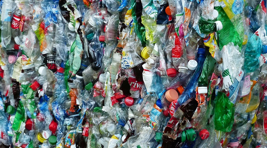 Tons of plastic bottles crushed - Glastonbury festival bans use of single use plastic on site for 2019