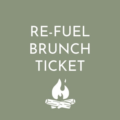 Re-Fuel Brunch Ticket - all inclusive brunche ticket for the Glastonbury Retreat Restaurant 2019