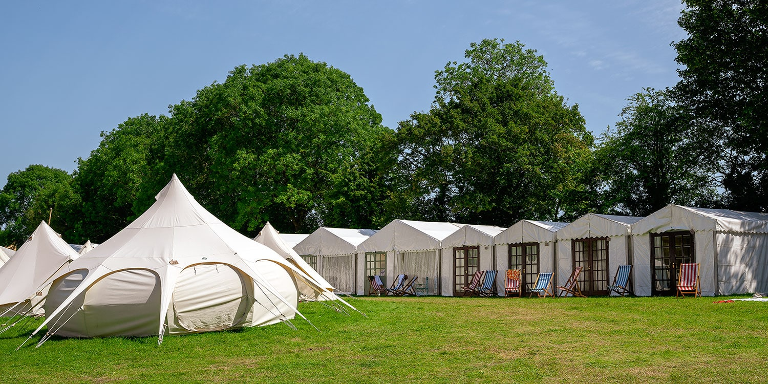 Glastonbury Retreat Glamping field