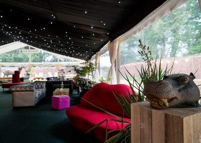 The lounge area at The Glastonbury Retreat