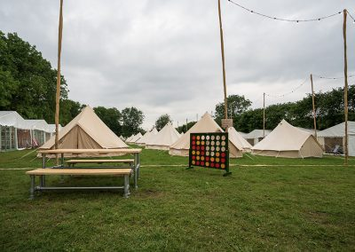The glamping field at The Retreat