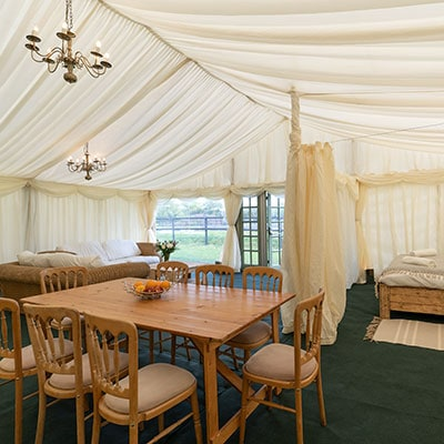 4 Bedroom Tent House - glamping at The Glastonbury Retreat