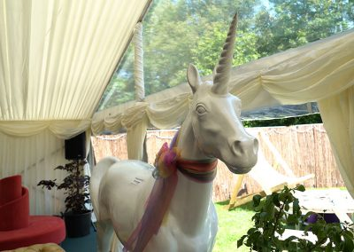 A magical unicorn in the lounge area of The Retreat