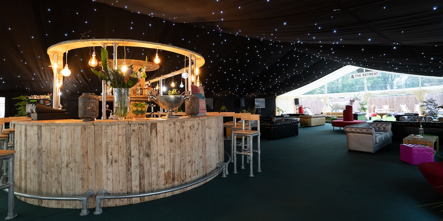 Glastonbury Glamping Retreat Bar
